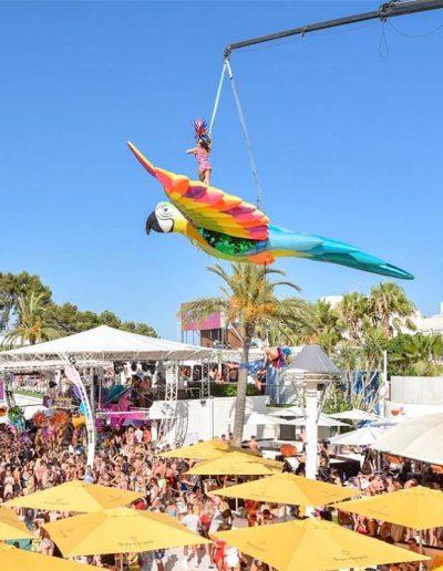 El Telar Rigging escenografía Ocean Beach Ibiza
