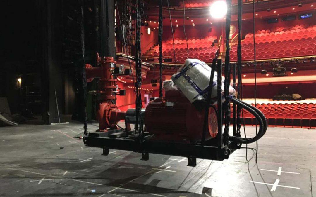 """Asistencia rigging desmontaje parcial producción """"Anastasia"""""""